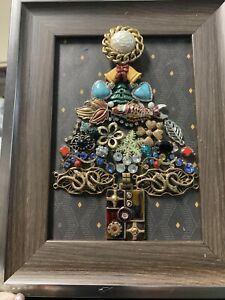 Jeweled Tree, Framed, Christmas tree
