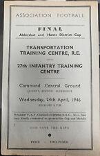 More details for transportation training centre v 27 infantry training centre 1945/46 cup final