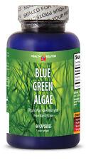 Organic  Blue Green Algae Powder- Klamath Blue Green Algae 500mg (1 Bottle 60 Ca
