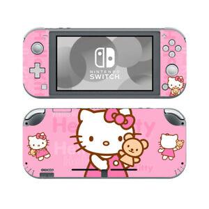 Nintendo Switch Lite Skin Hello Kitty Pink Vinyl Sticker Decal Screen Protector