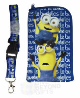 Minions Illumination Black Lanyard ID Ticket Badge Key Chain Iphone Holder