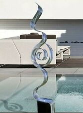 LARGE ELEGANT METAL ART SCULPTURE Modern Art Silver Indoor Outdoor  Jon Allen