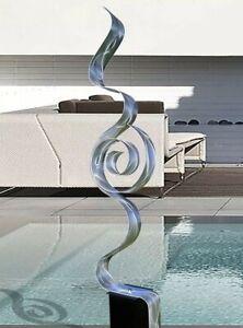LARGE ELEGANT METAL ART SCULPTURE Modern Art Silver Indoor Outdoor  Jon Allen