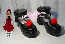 Rozen Maiden ShinKu Black Halloween Cosplay Shoes Thick Heels H016