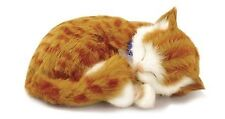 PERFECT ORANGE TABBY PLUSH BREATHING HUGGABLE ANIMAL CAT REAL KITTEN SOFT TOY