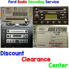 Ford Ka 1996-2008 mk1 FACTORY Visteon auto radio stereo M seriale del codice di sblocco