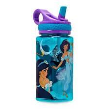 NEW Disney Store Jasmine Water Bottle with Straw 16oz Aladdin Princess