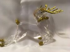 AVON SPARKLING ACRYLIC REINDEER ORNAMENT GIFT COLLECTION