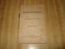 Collectible Rare 1852 Antique The Hand-Book of the Nation: A Holiday Present