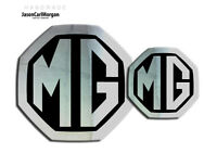 MG ZS MK2 LE500 Style Front Rear Badge Inserts  59mm/95mm Chrome/Black Badges
