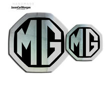 MG ZS LE500 MK2 Front & Rear Insert Badge Logo Set 59mm/95mm Chrome/Black