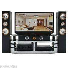 "Hi-Fi TV Cabinet Set Combo 1/6 Monster High 11"" Dolls House Dollhouse Furniture"