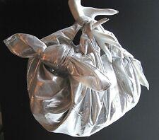 Vtg Comme des Garçons Metallic Silver Hobo Bag Rei Kawakubo Dover Street Market