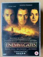Enemy At The Gates DVD 2001 World War II WW2 Stalingrad Siege Sniper Película de
