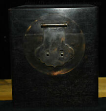 """7"""" Chinese Dynasty Rosewood Wood Carved Storage Jewelry Box Treasure Case Statue"""