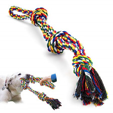 VIEWLON XL Dog Rope Toys for Strong Large Dogs, Sturdy 3-Knots Rope Tug, Durable