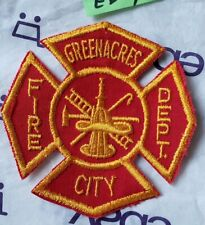 GreenAcres City Fire Department Vintage Obsolete Patch