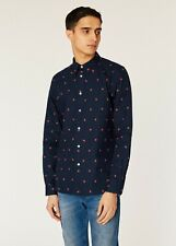 PAUL SMITH ~PS~ MEN'S TAILORED FIT BLUE HANDS PATTERNED LARGE NEW WITH TAGS
