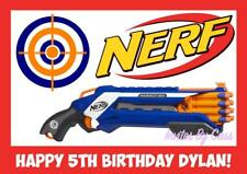NERF GUN A4 EDIBLE IMAGE CAKE TOPPER BIRTHDAY PARTY KIDS ADULTS