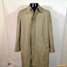BOTANY Weathertopper RAINCOAT Rain Trench Coat Mens 42L 42 Long khaki w/ liner