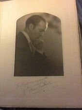 ANTIQUE PHOTOGRAPH 1930's JOHN HOWARD PYLE AUTOGRAPH former gov of Arizona