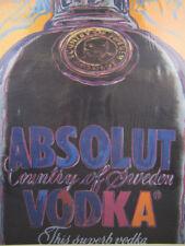 "1986 Absolut Vodka ""Absolut Warhol"" Print Advertisement Andy Warhol Art"