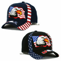 USA American Flag hat cap Eagle/ Stars and Stripes Embroidered Baseball cap