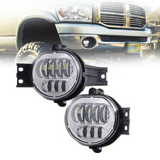 For Dodge Durango 2004-2005-2006 Led  Bumper Driving Fog Lights Kit  Clear Color