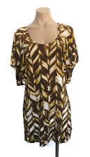 Cooper St Womens Ladies Girls Brown Yellow White Dress Smock Size 12