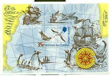 OISEAUX & BATEAUX - BIRDS & SHIPS TRISTAN DA CUNHA 1974 Block