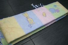 Baby Infant Children Bed Crib Bumper Pastel Animal Super Cute