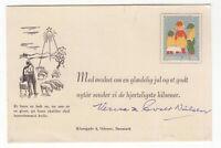 Denmark 1954 cinderella stamp on Christmas card