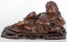 China 20. Jh. Holzfigur - A Chinese Hardwood Figure Of Li Bai - Cinese Chinois