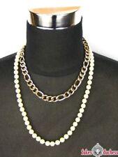 Modeschmuck-Halsketten aus Edelstahl mit Perlen