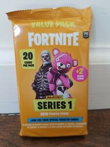 FORTNITE PANINI SERIES 1 Fat Value Pack 20+2 cards Orange Sealed Black Knight
