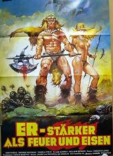 Umberto Lenzi  ER - STÄRKER ALS FEUER UND EISEN original Kino Plakat A1