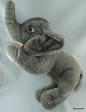 Schuco Circus Elephant Mohair Plush 25 cm Bendy Front Legs 1960s no ID Trunk Up