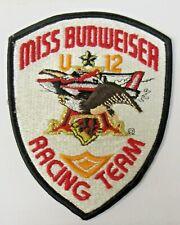 fancy U-12 MISS BUDWEISER RACING TEAM Hydroplane Race boat shirt jacket patch