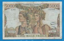 Gertbrolen 5000 FRANCS (TERRE ET MER ) du 2-5-1957  S.162