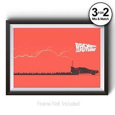 Back to the Future Minimalist Poster - Delorean Wall Art Prints - Classic Movies