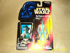 Star Wars The Power of the Force GREEDO action figure Collection 1 Orange card