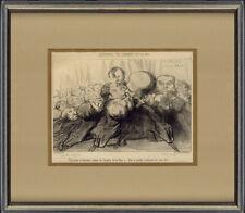 """Original 1849 Lithograph from Charivari, Honoré Daumier """"Souvenirs du Congrés"""""""