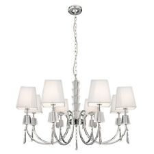 Searchlight 8 Lights Chrome Fitting Traditional Chandelier Ceiling Pendant Light
