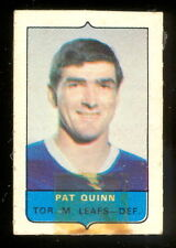 1969-70 OPC O-PEE-CHEE MINI 4 in1 PAT QUINN MAPLE LEAFS ROOKIE STAMP Sticker rc