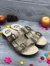 Abeo Women's Blythe Slides Gold  Size US 9.5 Post Footbed ( 2302 )