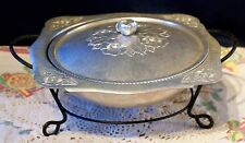 Continental Silver Co. Inc. Wild Rose Brilliantine Serving Dish With Stand #1058
