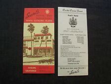 old travel brochure - Scari's Hotel and Restaurant in Avalon, Santa Catalina Ca