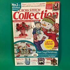 Cross Stitch Collection Magazine Dec 2014 Christmas Let it Snow Winter Sparkle