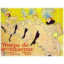 Troupe de Mlle Eglantine Ad Poster by Toulouse-Lautrec Deco Magnet, 1896 Can Can