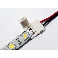 2 x Conector rápido de 10mm  2pin para tira unicolor con cable hasta 15cm (5050)
